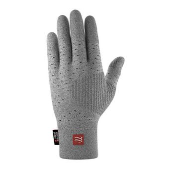Compressport 3D THERMO SEAMLESS - Gants gris
