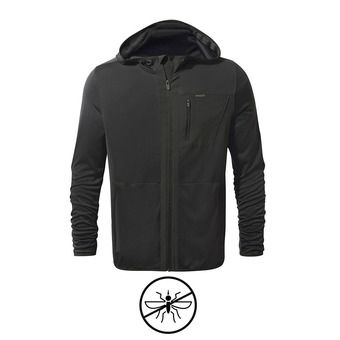Sweat à capuche zippé homme ELGIN black pepper