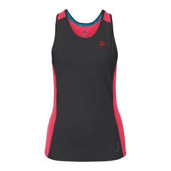 Camiseta de tirantes mujer CERAMICOOL PRO black/fiery coral