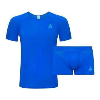 Ensemble maillot + collant homme PERFORMANCE energy blue/blue jewel