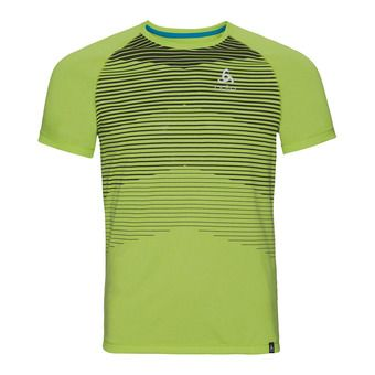 Camiseta hombre AION 18 acid lime melange/placed print