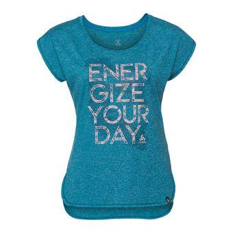 Camiseta mujer HELLE 18 HELLE 18 crystal teal melange/placed print