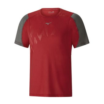 Mizuno ALPHA VENT - Maillot Homme mars red/castlerock