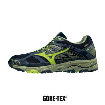 Chaussures de running homme WAVE MUJIN 4 GTX dressblue/greenery/oliv