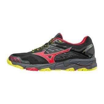 Zapatillas de trail hombre WAVE MUJIN 4 black/formulaone/flash