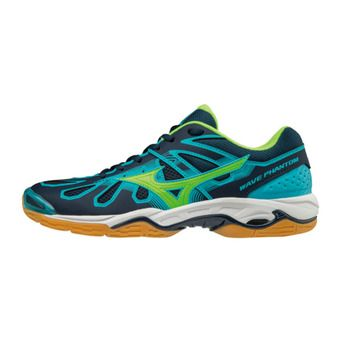 Mizuno WAVE PHANTOM - Chaussures hand Homme blue/green/blue
