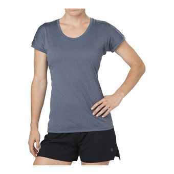 Asics CAPSLEEVE - Maglia Donna dark blue heather
