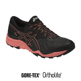 Chaussures trail femme GEL-FUJITRABUCO 6 G-TX black/begonia pink