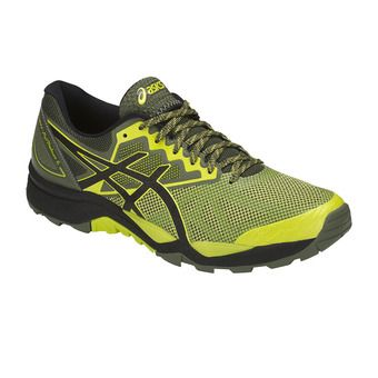 Asics GEL-FUJITRABUCO 6 - Chaussures trail Homme sulphur spring/black/four leaf clover
