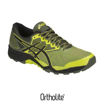 Chaussures trail homme GEL-FUJITRABUCO 6 sulphur spring/black/four leaf clover