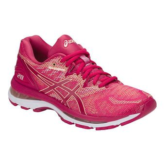 Asics Gel Nimbus 20 Chaussures de Running Femme Bright Rose/Apricot Ice