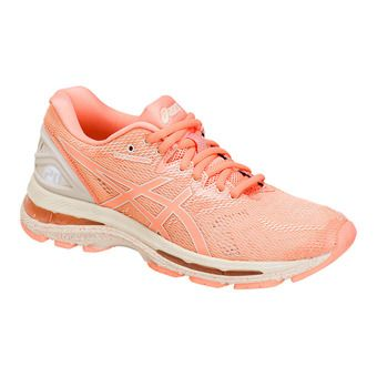 Chaussures running femme GEL-NIMBUS 20 cherry/coffee/blossom