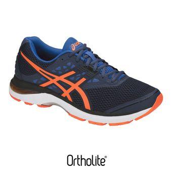 Chaussures running homme GEL-PULSE 9 dark blue/shocking orange/victoria blue