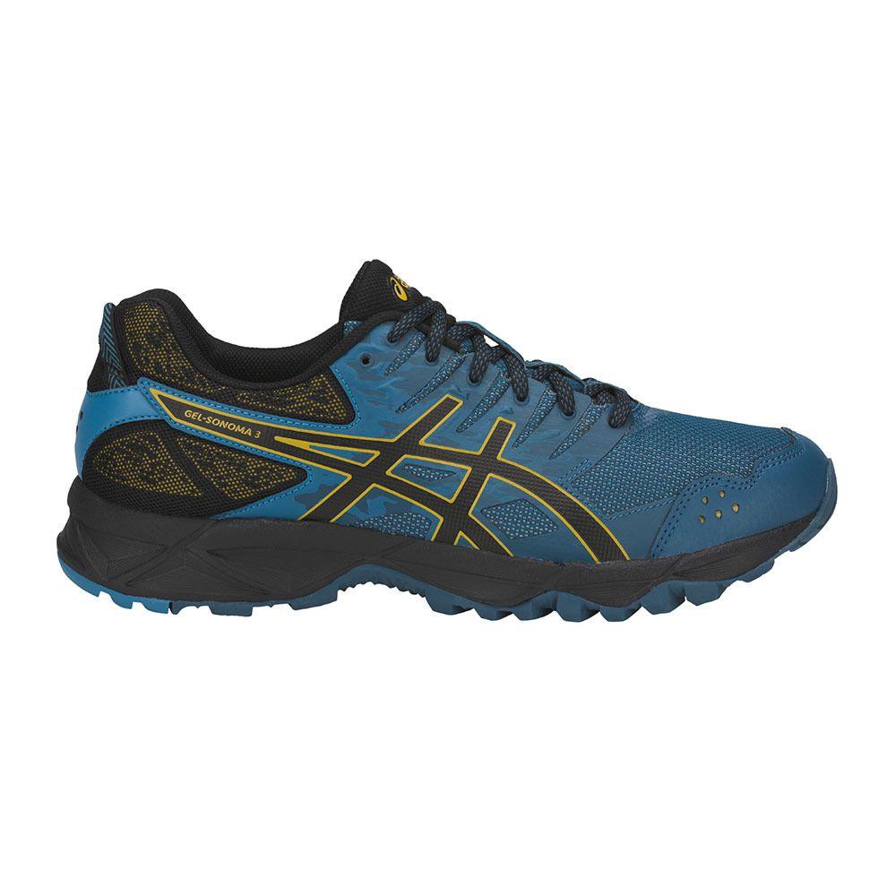 ASICS GEL-SONOMA 3 - Zapatillas neutras ink blue/black/lemon curry gEcnhilEk