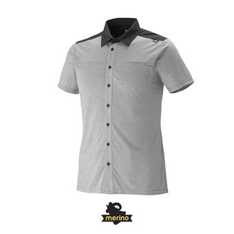 Chemise MC homme CLOUD PEAK WOOL smoked pearl