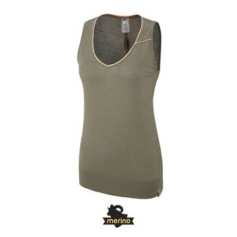 Camiseta de tirantes mujer CLOUD PEAK WOOL grape leaf