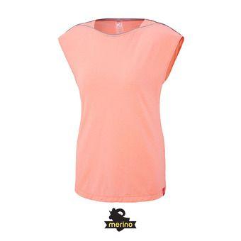Tee-shirt MC femme CLOUD PEAK WOOL peach