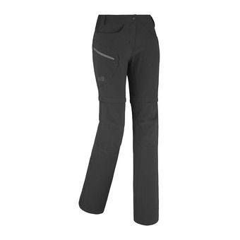 Pantalon convertible femme TREKKER STRECH black/tarmac