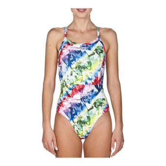 Arena GLITCH - 1-Piece Swimsuit - Women's - multicolour/leaf