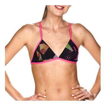 Arena TRIANGLE FEEL - Top de bikini mujer multi/fresia pink