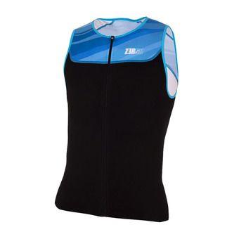 Z3Rod START TRISINGLET - Camiseta trifunción hombre black/atoll