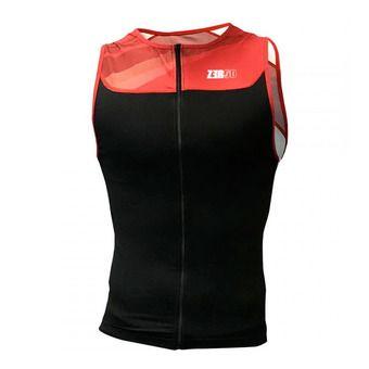 Camiseta de tirantes trifunción hombre START TRISINGLET black/red