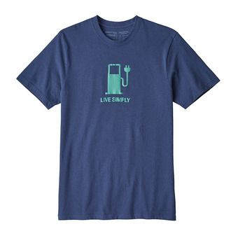 Tee-shirt MC homme LIVE SIMPLY POWER RESP dolomite blue