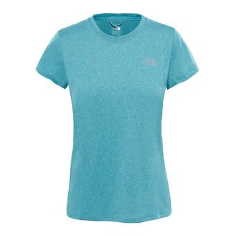 The North Face REAXION AMP CREW - Maillot Femme bristol blue heather