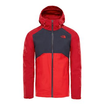 Veste à capuche homme STRATOS rage red/asphalt grey/high risk red