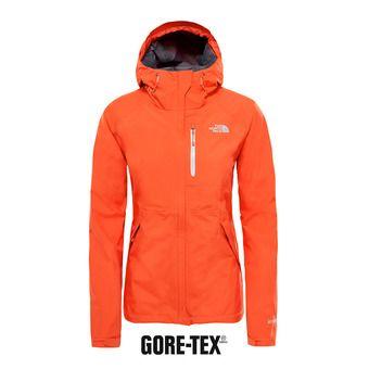 Chaqueta Gore-Tex® mujer DRYZZLE fire brick red/high rise grey