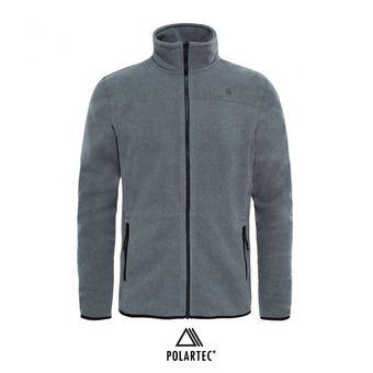Chaqueta polar Polartec® hombre 100 GLACIER tnf medium grey heather