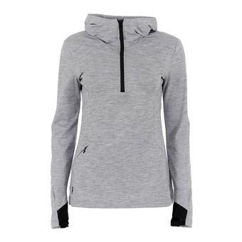 Sweatshirt - 1/2 Zip - Women's - CIVIL med grey marl