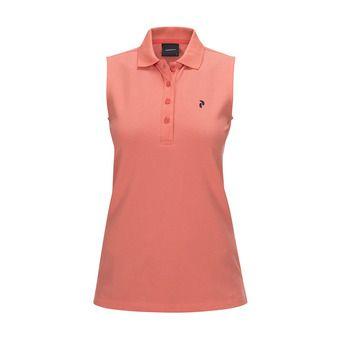 Polo sans manches femme CL PIQUE digital pink