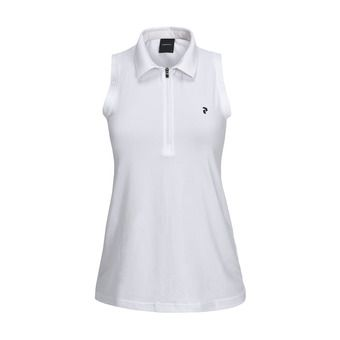 Sleeveless Polo - Women's - ZIP SL white
