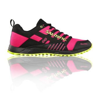 Chaussures trail femme TRAIL T4 noir/rose fluo