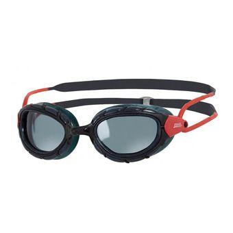 Gafas de natación polarizadas PREDATOR black/red/smoke