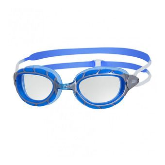 Gafas de natación PREDATOR silver/blue/clear
