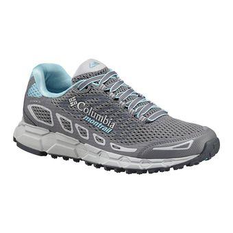 Columbia BAJADA III - Zapatillas de trail mujer grey steel/coastal blue