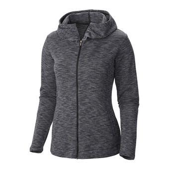 Sweat zippé à capuche femme OUTERSPACED black
