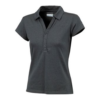Polo MC femme SHADOW TIME black/grill