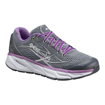 Columbia VARIANT X.S.R. - Running Shoes - Women's - grey ash/phantom purple