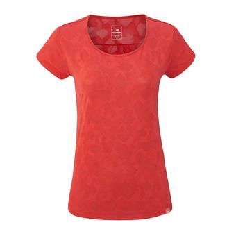 Tee-shirt MC femme FLEX JACQUARD spicy coral