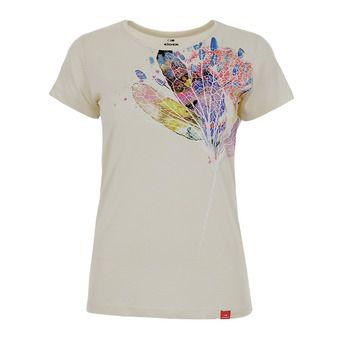 Tee-shirt MC femme ODAIBA mastic flower ink