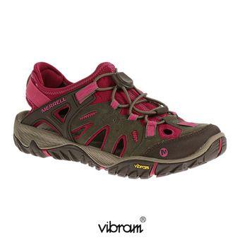 Merrell ALL OUT BLAZE SIEVE - Chaussures randonnée Femme boulder/fuchsia