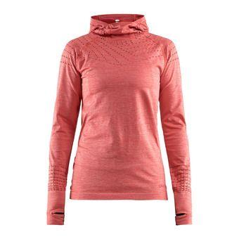 Sweat à capuche femme CORE 2.0 dahlia chiné