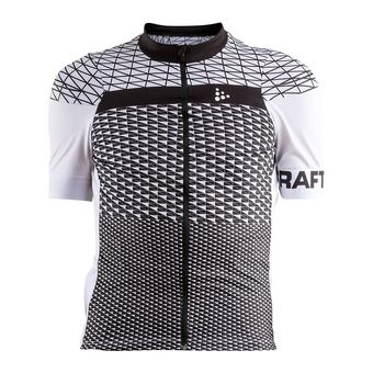 Craft ROUTE - Maillot Homme blanc/noir