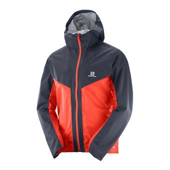 Veste homme OUTSPEED HYBRID graphite/fiery red