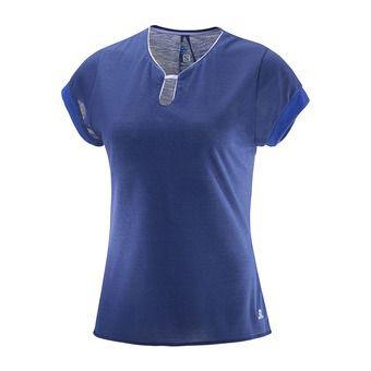 Maillot MC femme ELLIPSE U-NECK medieval blue