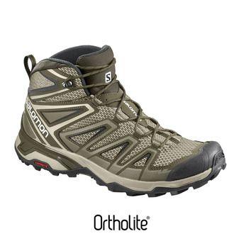 Zapatillas de senderismo hombre X ULTRA MID 3 AERO vintage kaki/wren