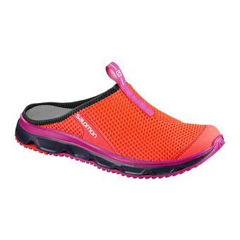 Zuecos de recuperación mujer RX SLIDE 3.0 fiery coral/blue/pink